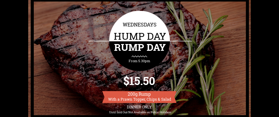 Wednesday Hump Day Rump Day