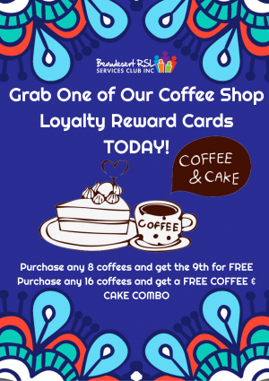 Coffee Shop Loyalty Reward Card