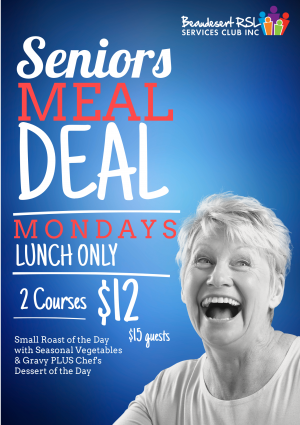 Seniors Meal Deal poster